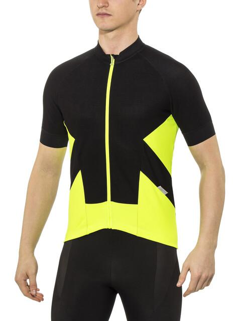 Löffler 1Beats2 Bike Trikot FZ Herren schwarz-signalgelb